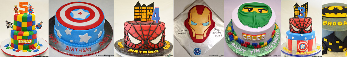 Cakesandicing Super Heros Theme Cakes Slider