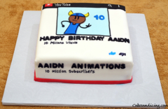 Aaidn Animations ! Personally Cake For Aaidn !! #aaidnanimations #youtube #animations #birthdaycake 01