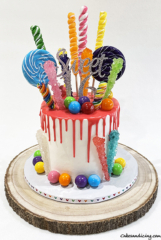All About Candy Craze !! Candyland Cake !!! #sweet16 #sugaroverload #candies #candycrush #candyland #sugarcrystals #candypops #gumballs #funandwhimsical #dripcake 01
