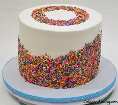 All About Sprinkles Thme Cake #rainbowsprinklescake #chocolatechipcake #chocolatenutellafilling 01