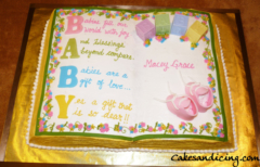 Baby Shower Book Theme Cake 04
