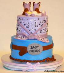 Baby Shower Cowboy Theme Cake 03