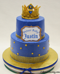 Baby Shower Lil Prince Theme Cake 02