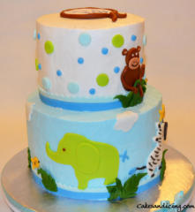 Baby Shower Jungle Theme Cake 16