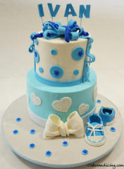 Baby Shower Baby Boy Blue And White Converse Shoe Theme Cake