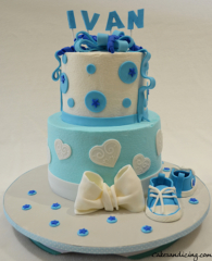 Babyboy Converse Shoes Baby Shower Theme Cake
