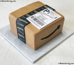 """Best Feeling Ever """"your Order Has Shipped""""!!here's A Box That Never Fails To Make Anyone Happy Amazon Box Cake! #amazon #amazoncake #amazonboxcake #amazonprimecake 01"""