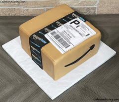 """Best Feeling Ever """"your Order Has Shipped""""!!here's A Box That Never Fails To Make Anyone Happy Amazon Box Cake! #amazon #amazoncake #amazonboxcake #amazonprimecake 02"""