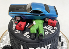 Boys Who Love Cars And Everything About It ..... !! Curious About The Machine And Modifications !!! #dodge #dodgechallenger #dodgechargercake #hellcatcake #garagetools 02