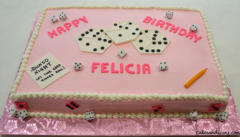 Bunco Dice Game Theme Cake