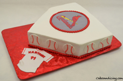 Cardinals Baseball Theme Cake 01