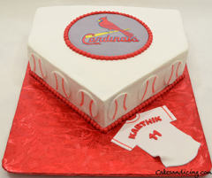 Cardinals Baseball Theme Cake 02