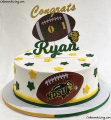 Congradulations To All The Graduates Out There!! Reedy Hs Graduates! #graduation #highschoolgraduation #graduationcake #reedyhighschool #ndsufootball #collegebound #classof2021 02