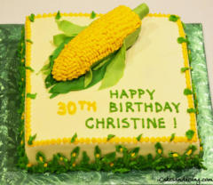 Corn Theme Bday Cake