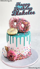 Donuts, Drips And Sprinkles !!! Simply Awesome #donuts #donutcake #dripcake #sprinkles #sprinklecake #whitechocolatedrips #candymelts 01