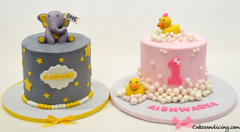 First Birthday Baby Elephant And Rubber Ducky Cake #rubberduckybirthday #bubbles #bubblesandduck #firstbirthdaycake #twinsbaby #twinsbabycake #twins 01