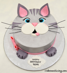 For Our Cat Lovers A Cat Cake #catcake #cat #cats #catface #catfacecake #catfacecakecutepinkbow #beautifulcateyes #meowmeow #purr #cutnessoverload 01