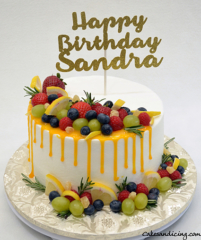 Fresh Berries And Drip Theme Cake #fresh Berriescake #lemondripcake #mintandrosemary #lemoncake #chocolatecake #whippedcreamfrosting 01