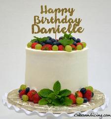 Fresh Berries And Drip Theme Cake #fresh Berriescake #mintandberries #chocolatecake 01
