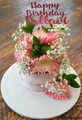 Fresh Flowers And Semi Naked Cake #pinkandwhiteflowers #cakebouquetofflower #egglesschocolatecake