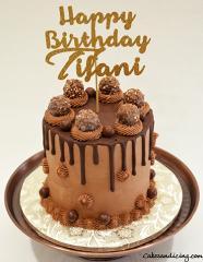 Happy Birthday Chocolate Theme Cake #chocolatedripcake #ferrerorocher #chocolateandmorechocolate 01