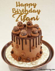 Happy Birthday Chocolate Theme Cake #chocolatedripcake #ferrerorocher #chocolateandmorechocolate 01