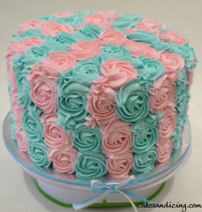 He Or She Open To Reveal Gender Reveal Themed Cake