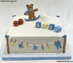 It's A Boy !!!! Simple , Cute And Super Adorable Baby Shower Cake #baby #babyshower #babyboy #itsaboy #babyshowercakes #teddybear #teddy #teddybearbabyshower #snow #adorable