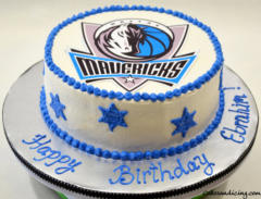 Kids Bday Dallas Mavericks Theme Cake