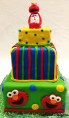 Kids Bday Elmo Theme Cake