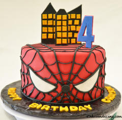 Kids Bday Spider Man Theme Cake Strawberry And Chocolate Flavor Cake