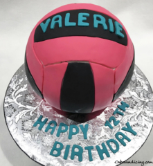 Kids Bday Volleyball Theme Cake 01