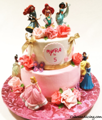 Kids Bday Disney Princess Theme Cake 05