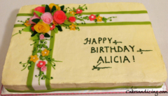Kids Bday Floral Theme Rose Flowers Cake 10