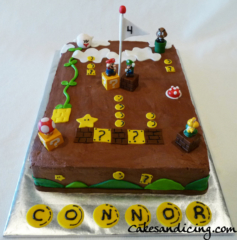 Kids Bday Mario Theme Cake 05