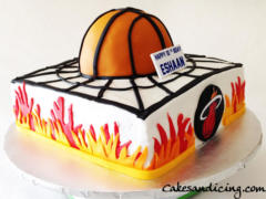 Kids Bday Miami Heat Theme Cake
