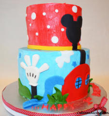 Kids Bday Mickey Tree House Theme Cake 03
