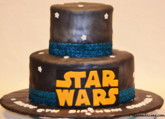 Kids Bday Star Wars Theme Cake 03
