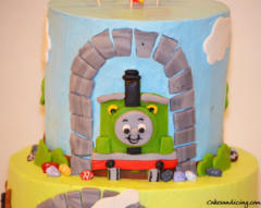 Kids Bday Thomasandpercy Theme Cake 02