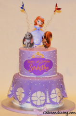 Kids Bday Princess Sophia The First Theme Cake