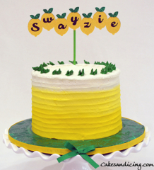 Lemon Theme Smash Cake #smashcake #lemoncake #firstbirthdaycake 01