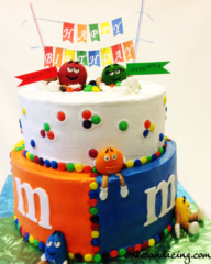 Mnm Kids Bday Theme Cake