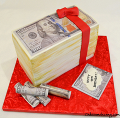 Money Money Money, Money Theme Cake #makeitrain #dollarcake #moneycake #dollarbillcake 01