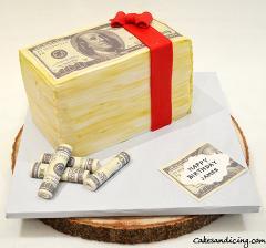 Money Money Money, Money Theme Cake #makeitrain #dollarcake #moneycake #dollarbillcake 11