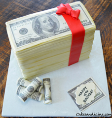 Money Money Money, $$ Theme Cake #makeitrain #dollarcake #moneycake #dollarbillcake #teenbirthdaycake 01