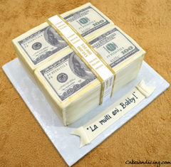 Money Money Money, $$ Theme Cake #makeitrain #dollarcake #moneycake #dollarbillcake #teenbirthdaycake 02