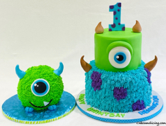 Monster Inc. Movie Cake And The Smash Cake #monstersinc #bestanimatedmovie #smashcake #billycrystal #mikewazowski #johngoodman #jamespsullivan #monsterincmovie 03