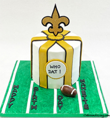 Nfl Saints Whodat Theme Cake #saints #neworleanssaints #whodatnation