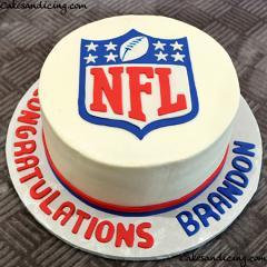 Nfl Theme Cake #nflcake #football #footballcake 01