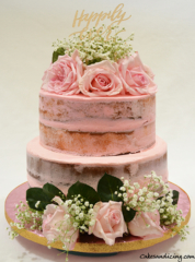 Naked And Shabbychic Wedding Theme Cake 001